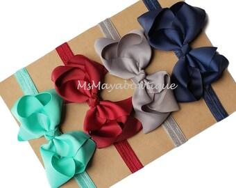 Baby bow headband, PICK 4, baby girl headband, toddler bow headband, headdbands for baby girl, hairbow headbands, baby hairbands, baby gift