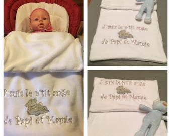 Sweet embroidered baby blanket