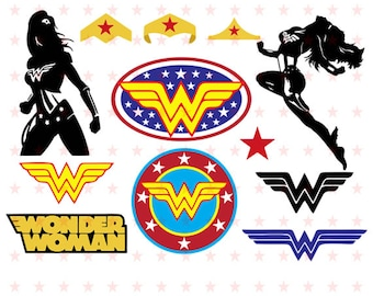 Wonder Woman Svg, Wonder Woman Svg File, Super Hero Wonder Woman Svg, Superhero Svg, Silhouette File, Wonder Woman Vector, Wonder Woman Cut