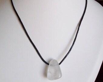 45cm rock crystal pendant necklace