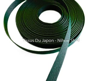 10 meters basketry - strip of paper basketry - kraft paper tape - paper weaving basketry - TV6 bottle green corrugated kraft paper