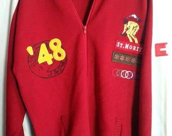 ST. Moritz 1948 Winter Olympics Sweater  BB London
