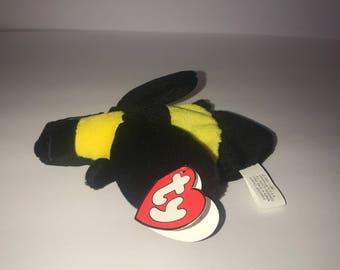 Ultar Rear TY Beanie Baby Bumble the Bee #4045 3rd Gen Hang 1st Gen Tush (Korean Tags)