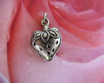 charm Strawberry 24 mm Tibetan silver for creating jewelry