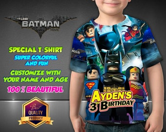 Lego Batman Birthday Shirt, Custom Shirt, Personalized Lego Batman Shirt, Lego Batman family shirts, Birthday Lego t-shirts Disney Family