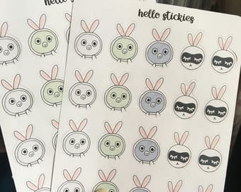 Bunny's Facial Mask Stickers