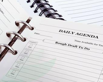 Agenda / To do List A5 PDF