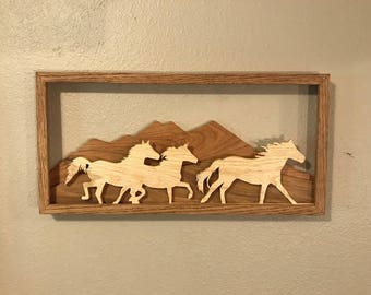 Lot 0755  Running Wild Horses