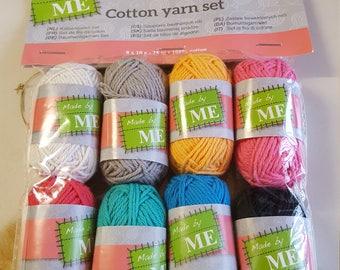 8 mini skeins of cotton