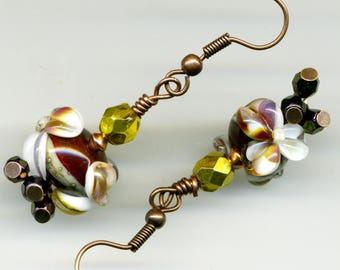 "Copper BRONZE ""Color Automnales"" earrings"
