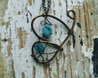 Wire Wrapped Butterfly Necklace