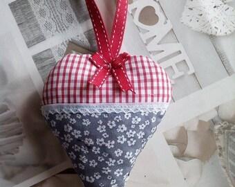 Pretty cotton decorative hanging heart