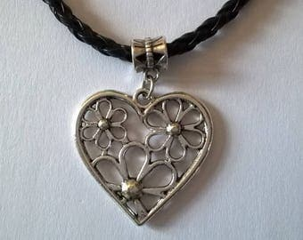 the Choker necklace in the floral heart