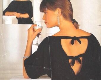 Sweater with  V  back  ladies jumper  vintage knitting pattern  PDF instant download