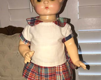 "19"" Vintage Effanbee ""Patsy Ann"" Composition Doll with 2 Outfits"