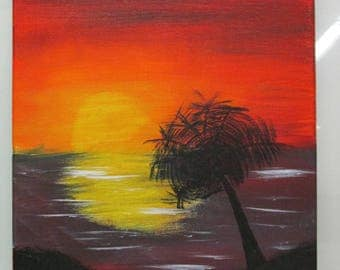 Canvas Sunset Landscape