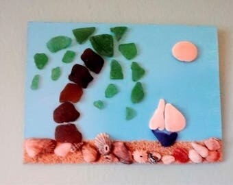 Sea Glass, Sea Shell Art
