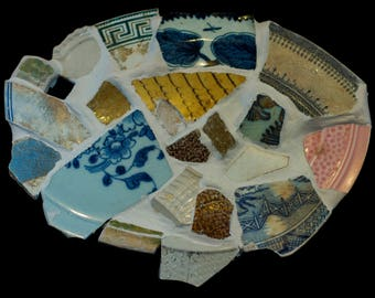Ceramic Platter with 1000 Year Old Antique Fragments