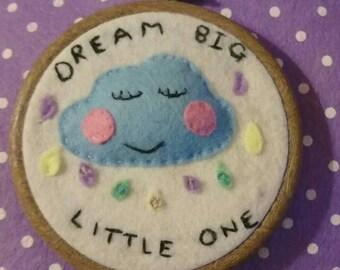 Cloud and Raindrops Embroidery Hoop, Embroidery Hoop Art,new baby gift, nursery decor, playroom decor, fabric wall art, felt art, pastels
