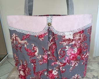 bag, tote collar Peter Pan and toile