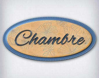 Leather and denim 053 room door sign decal