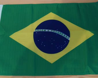 "BRAZIL FLAG - 45cm x 30cm - 18"" x 12"" - Brazilian Flag"