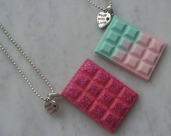 Necklaces with chocolate bars