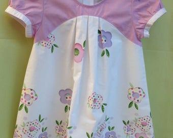 Sleeved a line dress 4 years dress spring/summer cotton Poplin, ceremonial dress, party dress