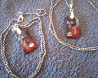 I love pendants sold in pairs for lovers