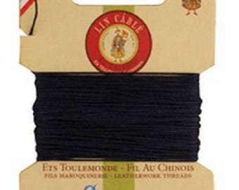 Cardboard 10 meters of AU Chinois linen thread no. 432, Navy / Midnight Blue 812