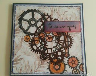 Greeting card: Miss me you, handmade