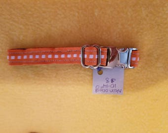 "Neon Orange 10""-14"" Dog Collar"