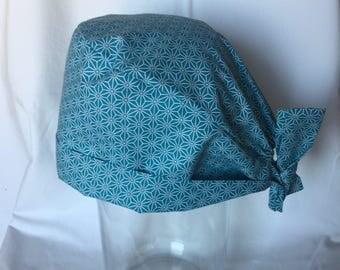 Fabric pattern blue Cap