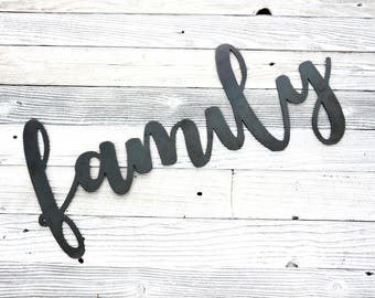 Family . Metal Sign . Home Decor . Family Sign . Gift .