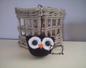 Amigurumi owl, black and white