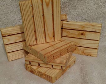 Wooden soap dish for homemade soaps