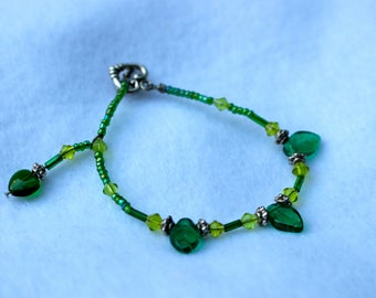 Lucky Green Beaded Bracelet