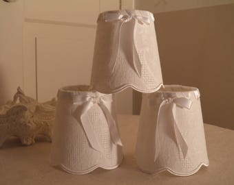 scalloped white Lampshade for appliques and luster