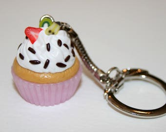 Key ring or jewelry bag Cupcake