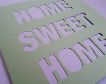 Home Sweet Home Papercut Greetings Card Moving Home