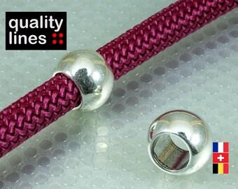 Silver ZAMAK loop to string round hole 10mm - 10mm 14 mm slide