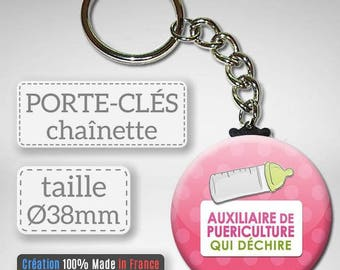 Key auxiliary of childcare tearing idea gift nursery assistant Badge 38 mm