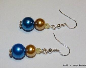 BO * 37 earrings red blue