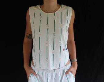 cotton tank and short set