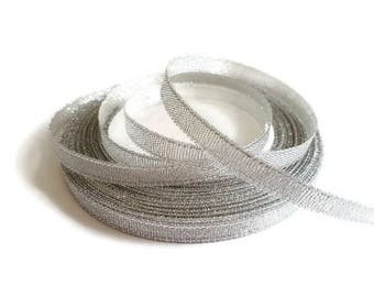 6mm gray glitter Ribbon