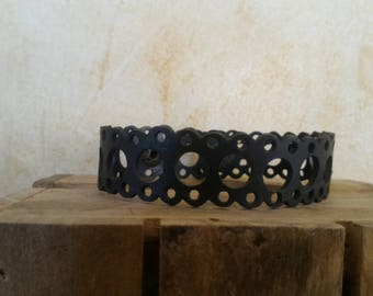 Bracelet recycled bicycle inner - Made in Morocco