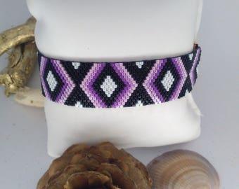 weaving in miyuki Delica peyote Cuff Bracelet