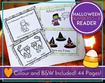 Halloween Emergent Reader, Numbers Book, Numbers 1 - 10, Learning Numbers, Halloween Activities, Halloween Printable, Teaching, Reading