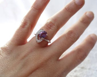 AMETHYST silver ring and Amethyst T51