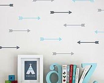 Arrows Wall Decals,Wall art,wall stickers,vinyl arrows,trendy,nursery decorations,kids room,wall arrow,